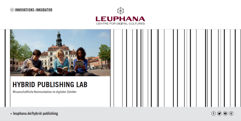 Leuphana Universität Lüneburg: Hybrid Publishing